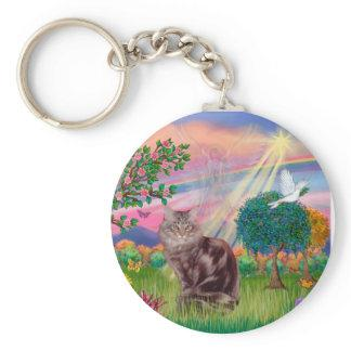 Maine Coon Cat  - Cloud Angel Keychain