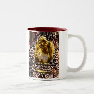 Maine coon cat earth colors 2 tone mug