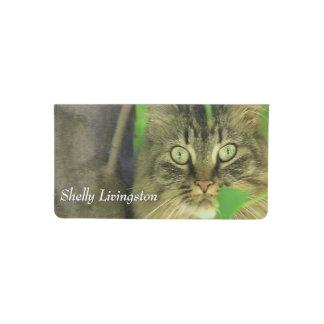 Maine Coon Cat in Tree Personal Checkbook Cover