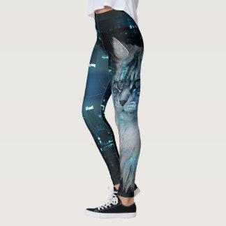 Maine Coon Cat leggings printed