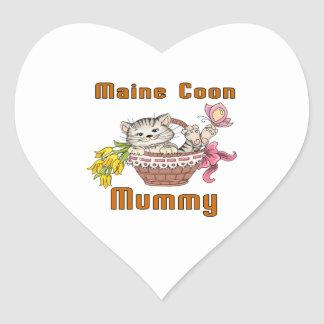 Maine Coon Cat Mom Heart Sticker