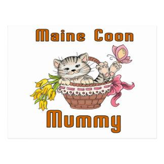 Maine Coon Cat Mom Postcard