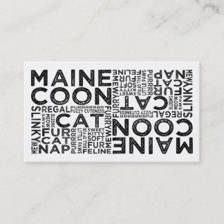 Maine Coon Cat Typography Business Card