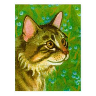Maine Coon Cat with Mistletoe Postcard