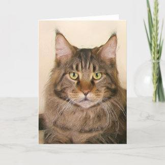 Maine coon Cats greeting card