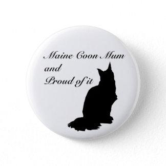 Maine Coon Mum Button