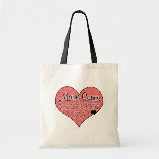 Maine Coon Paw Prints Cat Humor Tote Bag