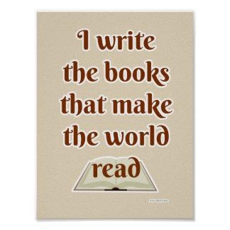 Make the World Read Funny Slogan Poster
