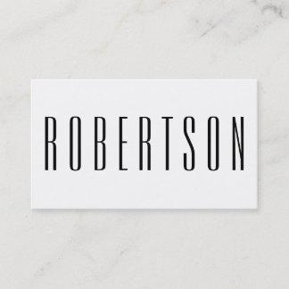 Minimalist black and white modern business card