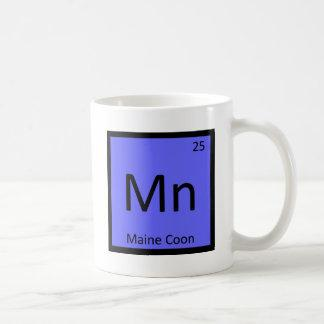 Mn - Maine Coon Cat Chemistry Periodic Table Coffee Mug