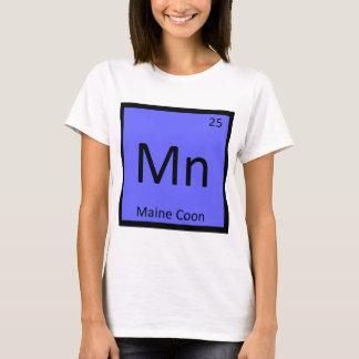 Mn - Maine Coon Cat Chemistry Periodic Table T-Shirt