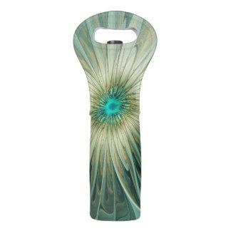 Modern Abstract Fantasy Flower Turquoise Wheat Wine Bag