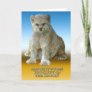 My 600 lb Cat Couch - Vertical Greeting Card