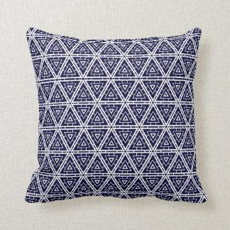 navy pillow solid back white tile abstract pattern