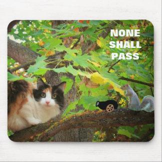 None shall Pass Cat vs. Squirrel Mouse Pad