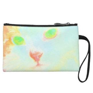 Pastel Miane Coon Cat Image Mini Clutch Bag