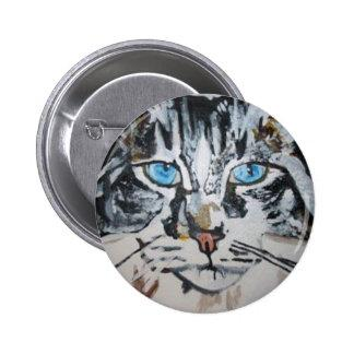 Petey - The Maine Coon Kitty Pinback Button