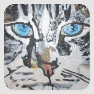 Petey - The Maine Coon Kitty Square Sticker