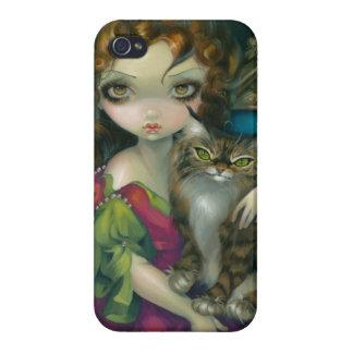 """Princess with a Maine Coon Cat"" iPhone 4 Case"