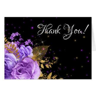 PURPLE FLORAL THANK YOU CARD