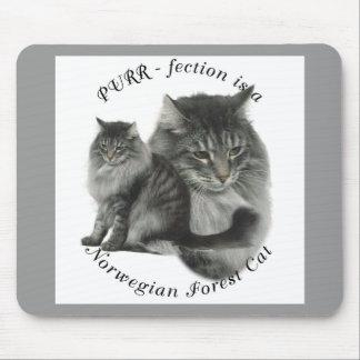 PURR-fection Norwegian Forest Cat Mouse Pad