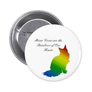 Rainbow Maine Coon Button