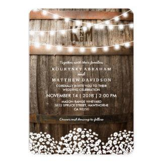 RUSTIC COUNTRY WEDDING   STRING OF LIGHTS CARD