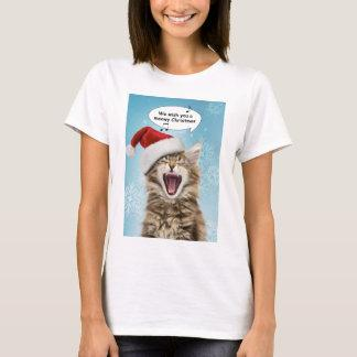 Singing Cat Christmas T-Shirt