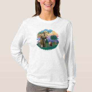 St Francis (ff) - Maine Coon cat  (brown tabby) T-Shirt