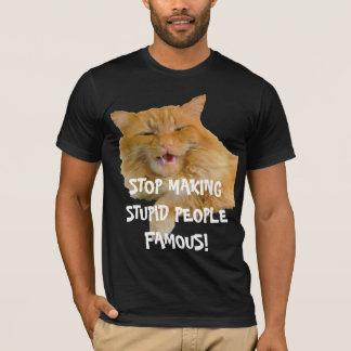 Stop Making Stupid People Famous Orange Cat T-Shirt