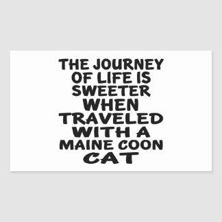 Traveled With Maine Coon Cat Rectangular Sticker