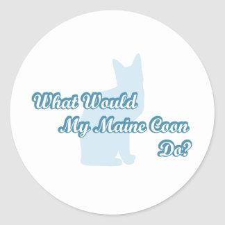 What would my Maine Coon do? Classic Round Sticker