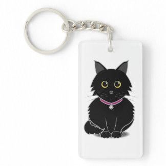 Zelda the Black Cat Keychain