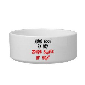 Zombie Slayer Maine Coon Cat Bowl